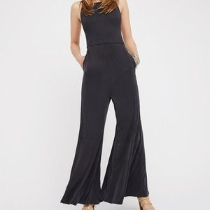 Free people trip me up jumpsuit in charcoal
